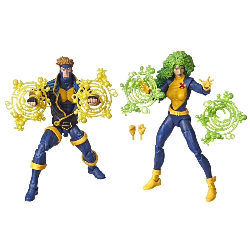 Hasbro Marvel Legends Series 6-inch Collectible Action Figures 2-Pack X-Men Toys, Marvel's Havok, Marvel's Polaris