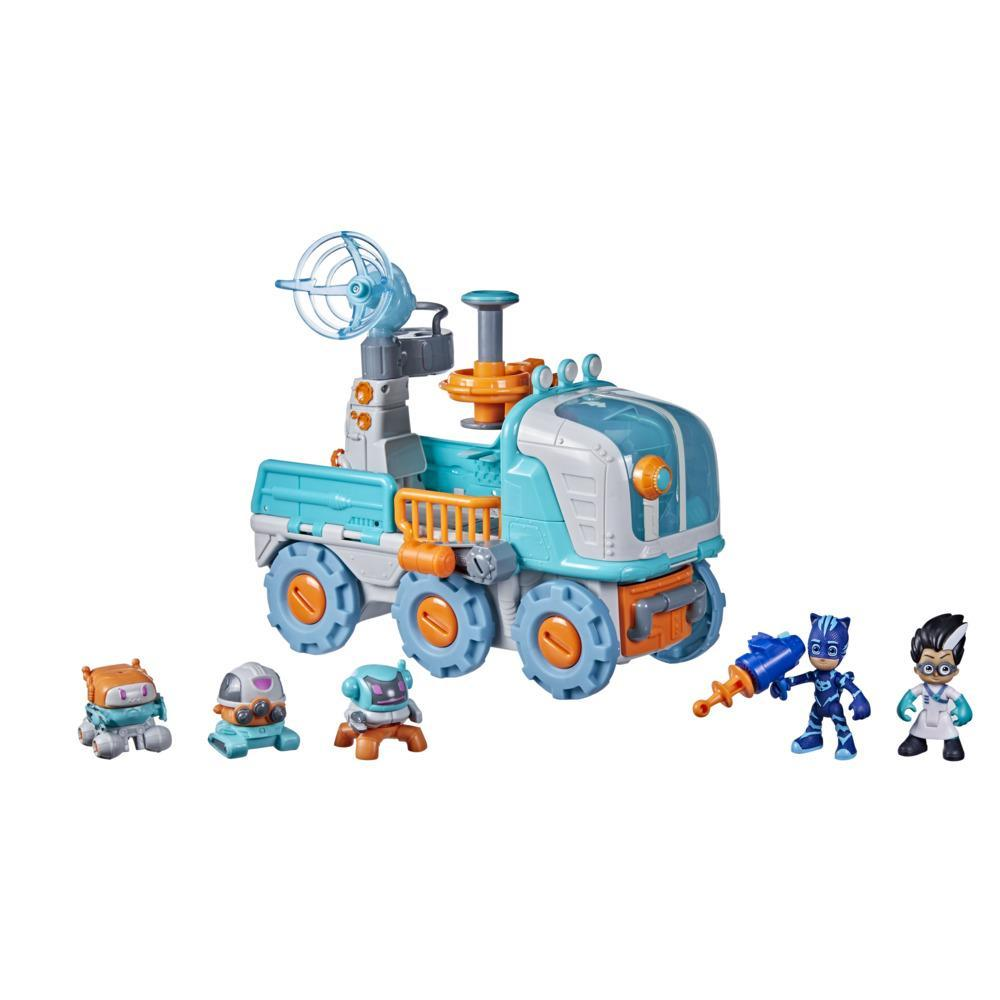 PJ Masks Romeo Bot Builder Preschool Toy, 2-in-1 Romeo Vehicle and Robot Factory Playset for Kids Ages 3 and Up