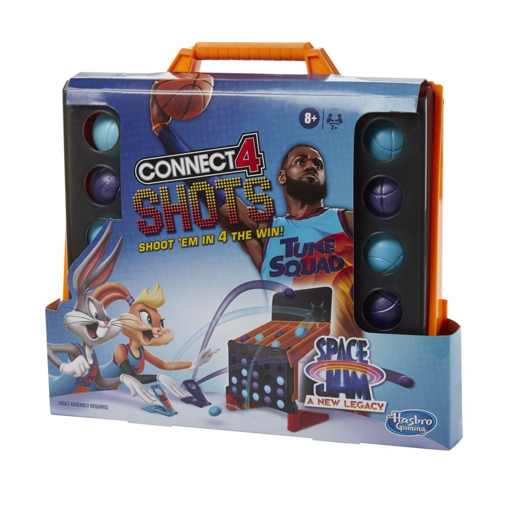Connect 4 Shots: Space Jam A New Legacy Edition Game for 2 or More Players, for Kids Ages 8 and Up