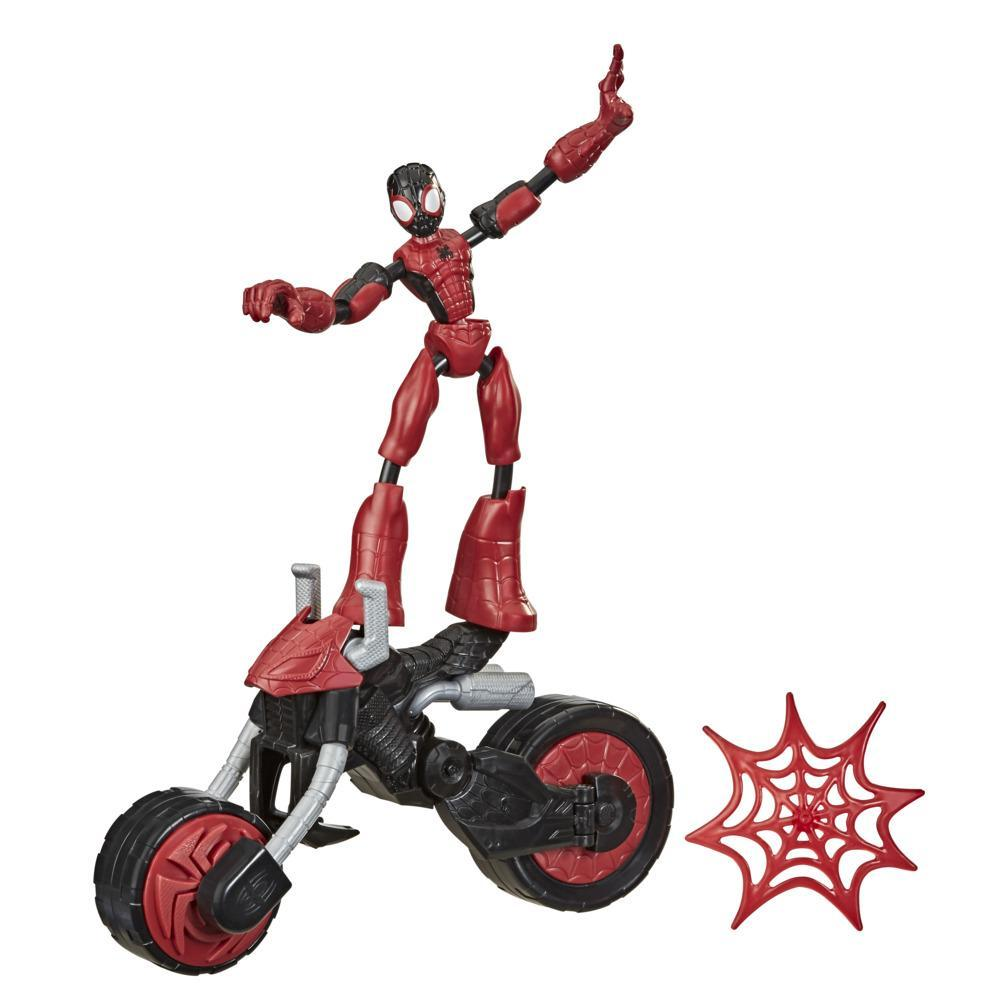 Marvel Bend and Flex, Flex Rider Spider-Man Action Figure Toy, 6-inch Figure and 2-In-1 Motorcycle For Kids Ages 4 And Up