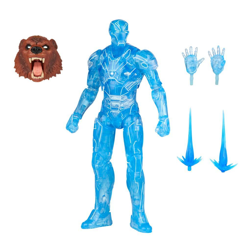 Hasbro Marvel Legends Series 6-inch Hologram Iron Man Action Figure Toy, Includes 2 Accessories 1 Build-A-Figure Part