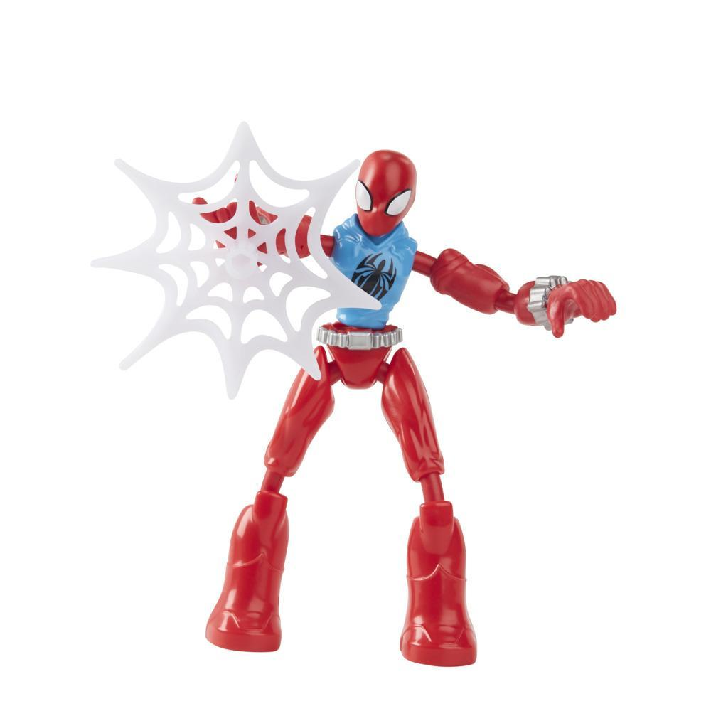 Marvel Spider-Man Bend and Flex Marvel's Scarlet Spider Action Figure, 6-Inch Flexible Figure, Includes Web Accessory, Ages 4 And Up