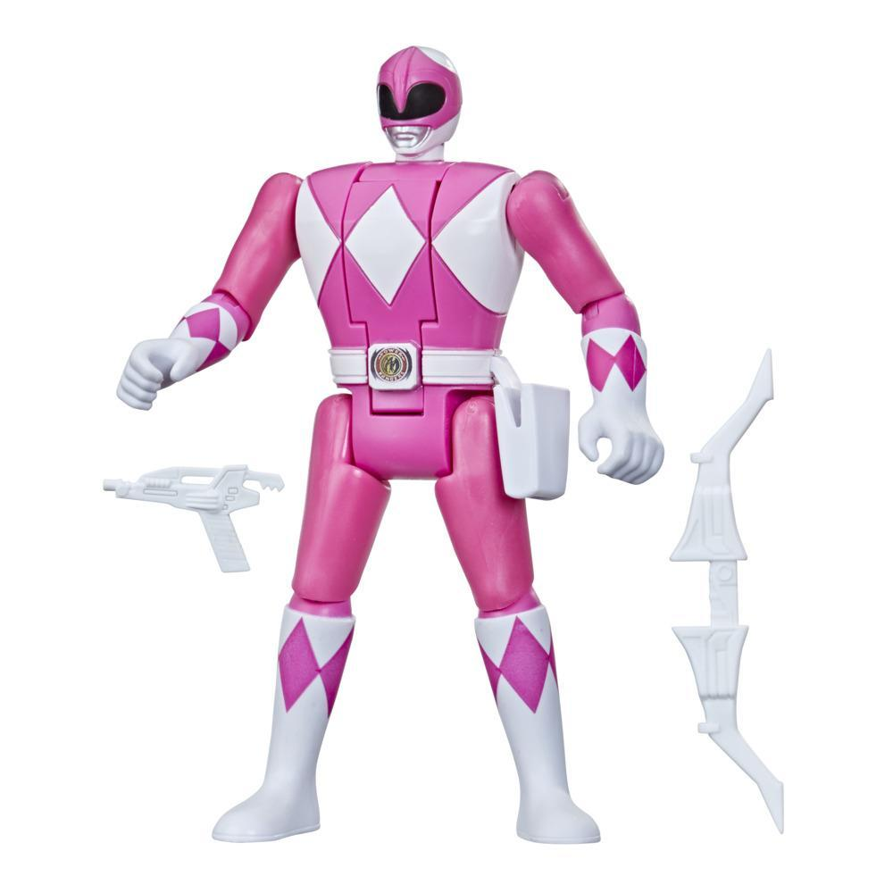 Power Rangers Retro-Morphin Pink Ranger Kimberly Fliphead Action Figure Inspired by Mighty Morphin Toy Kids Ages 4 and Up