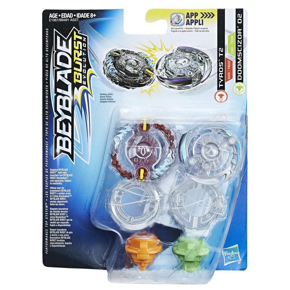 Beyblade Burst Evolution Dual Pack Tyros T2 and Doomscizor D2