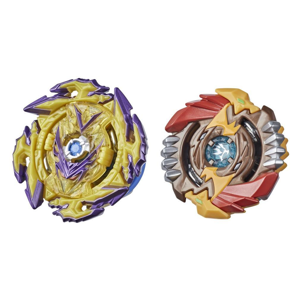 Beyblade Burst Surge Speedstorm Spear Valtryek V6 and Regulus R6 Spinning Top Dual Pack -- Battling Game Top Toy