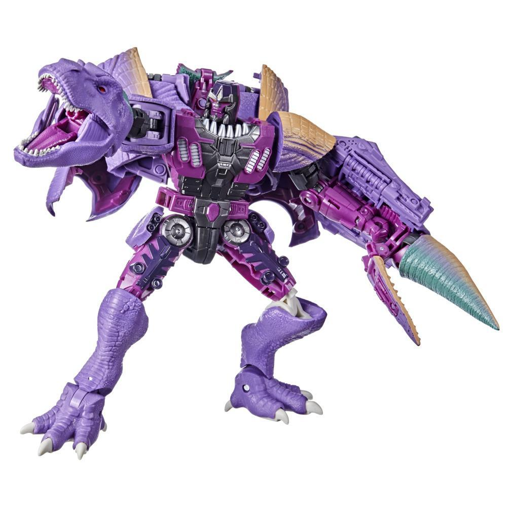 Transformers Toys Generations War for Cybertron: Kingdom Leader WFC-K10 Megatron (Beast) Action Figure - 8 and Up, 7.5-inch