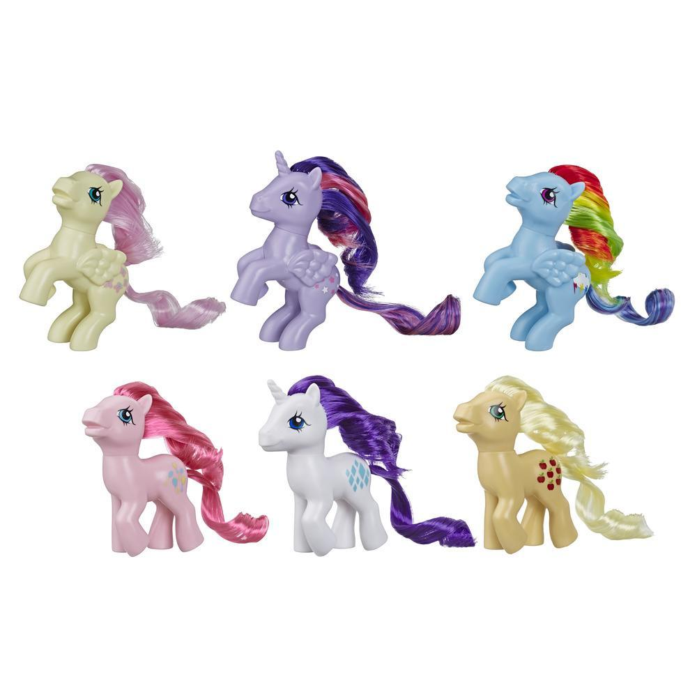 My Little Pony Retro Rainbow Mane 6 -- 80s-Inspired My Little Pony Collectable Figures