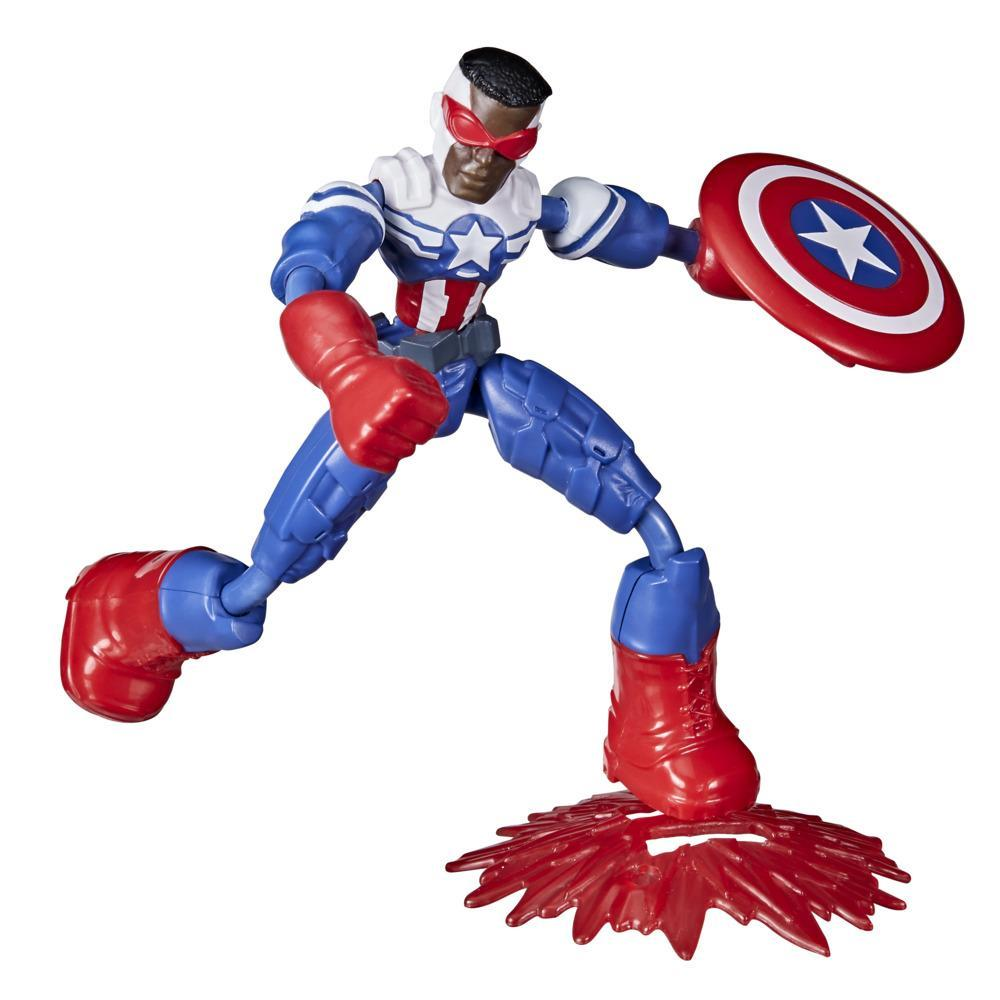 Marvel Avengers Bend And Flex Action Figure, 6-Inch Flexible Captain America Super Hero Figure Toy, Ages 4 And Up