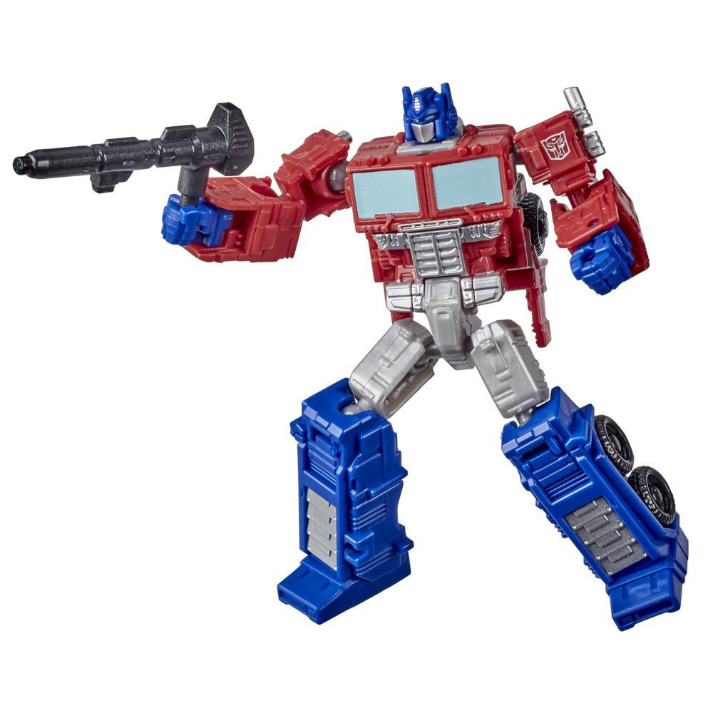 Transformers Toys Generations War for Cybertron: Kingdom Core Class WFC-K1 Optimus Prime Action Figure - 8 and Up, 3,5-inch