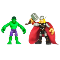 MARVEL Super Hero Adventures PLAYSKOOL HEROES HULK and THOR