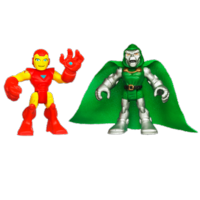 MARVEL Super Hero Adventures PLAYSKOOL HEROES IRON MAN and DR. DOOM Figures