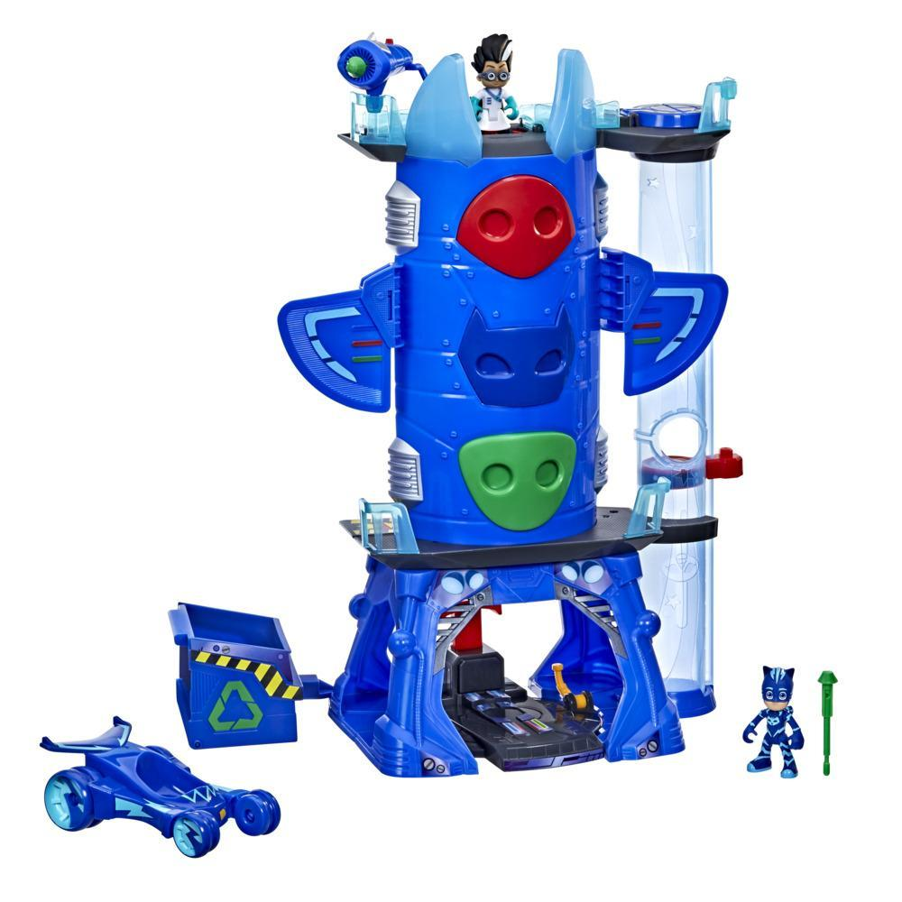 PJ Masks Deluxe Battle HQ Preschool Toy, Headquarters Playset with 2 Action Figures and Vehicle for Kids Ages 3 and Up