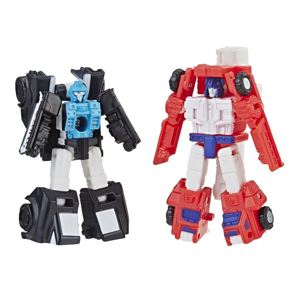 Transformers Toys Generations War for Cybertron: Siege Micromaster WFC-S19 Autobot Rescue Patrol 2-pack Action Figure - Adults and Kids Ages 8 and Up, 1.5-inch