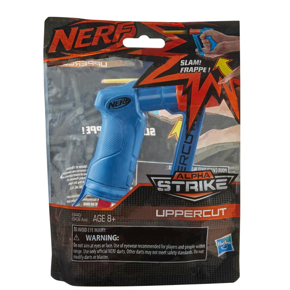 Nerf Alpha Strike Uppercut Blaster -- Includes 1 Official Nerf Elite Dart -- For Kids, Teens, Adults -- Blue