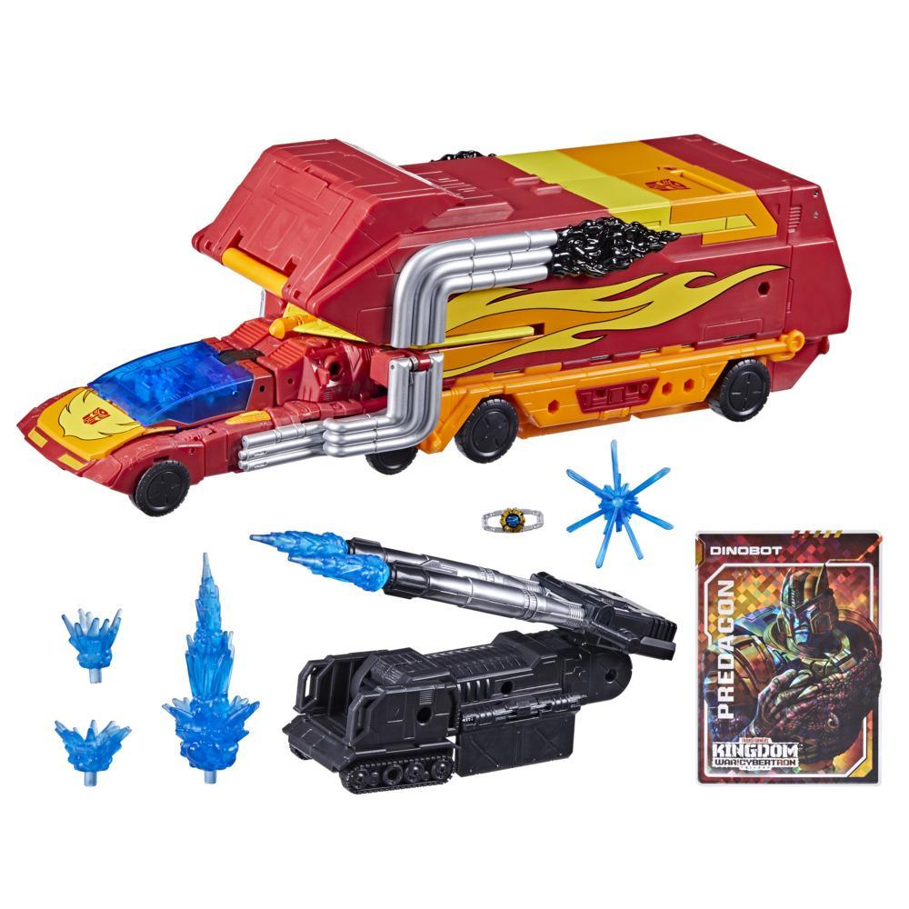 Transformers Toys Generations War for Cybertron: Kingdom Commander WFC-K29 Rodimus Prime with Trailer Action Figure, 8 and Up, 7.5-inch