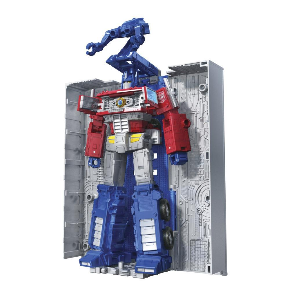 Transformers Toys Generations War for Cybertron: Kingdom Leader WFC-K11 Optimus Prime Action Figure - 8 and Up, 7-inch