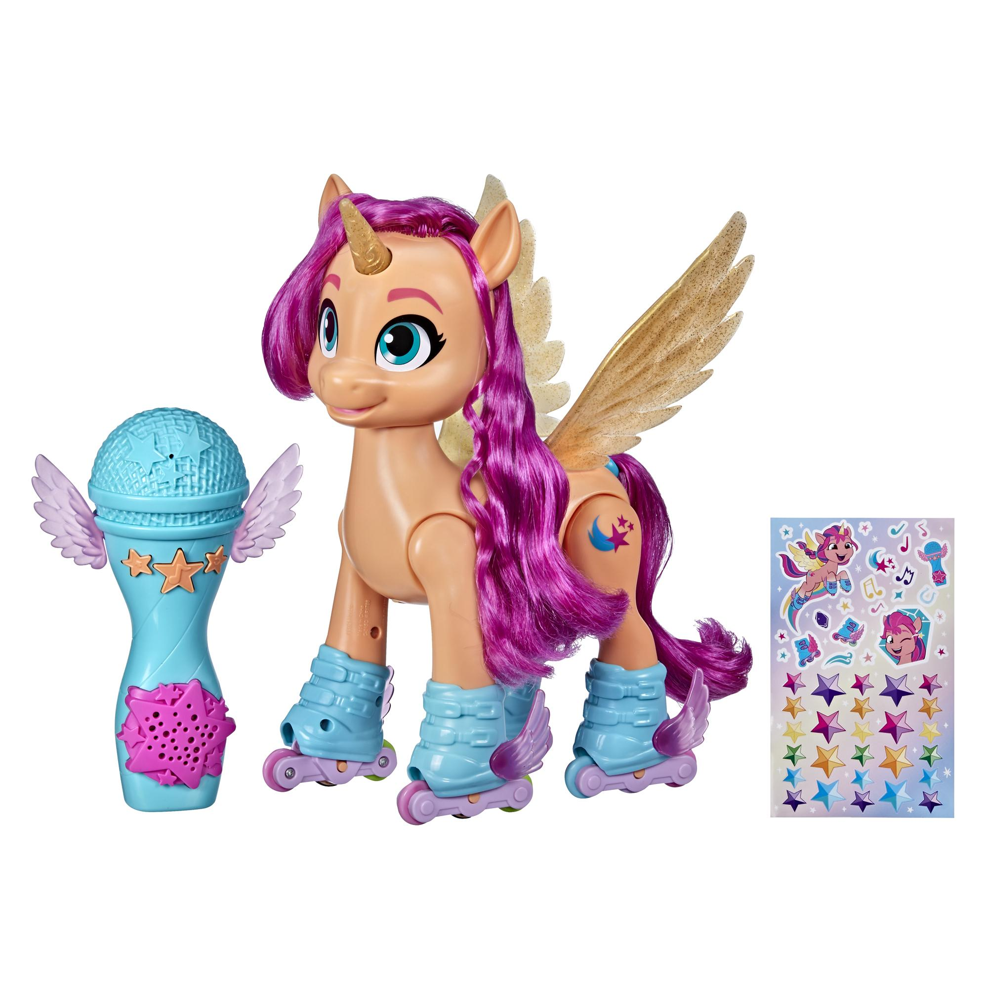 My Little Pony: A New Generation Movie Sing 'N Skate Sunny Starscout - 9-Inch Remote Control Toy, 50 Reactions, Lights and Music