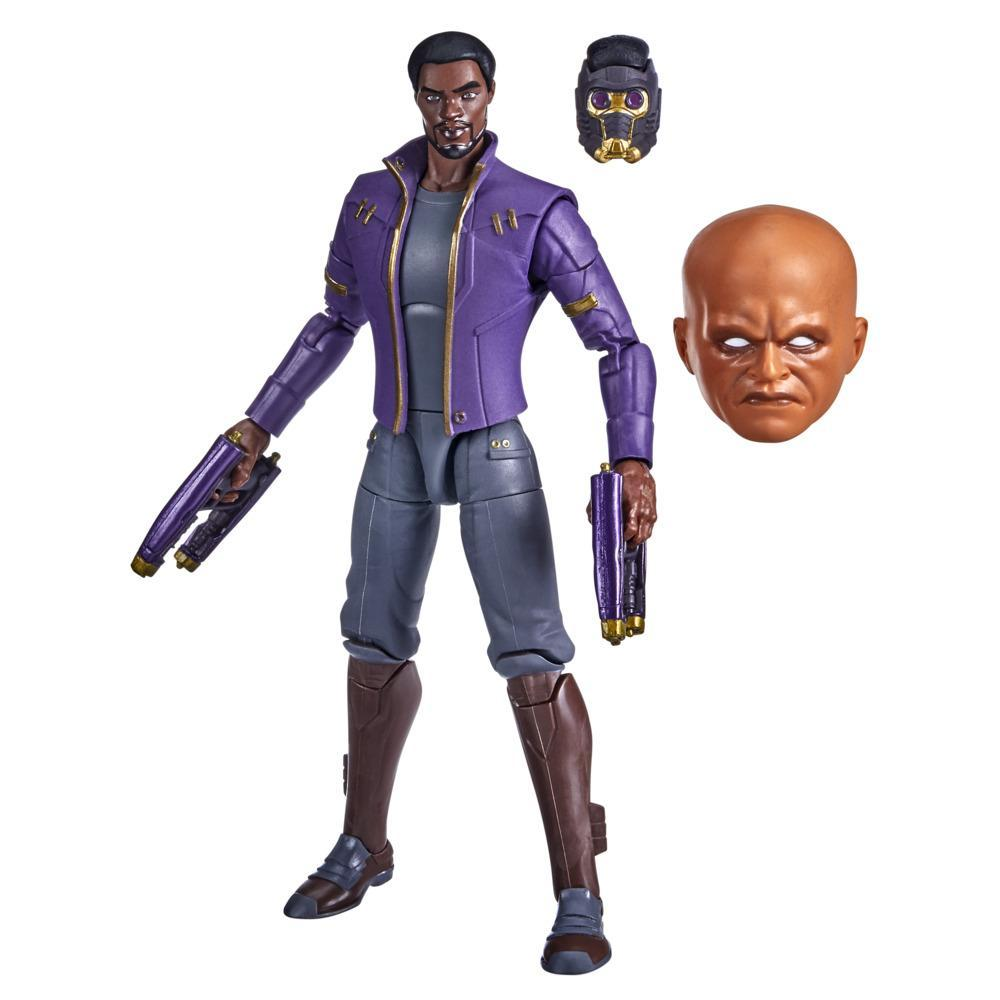 Marvel Legends Series 6-inch Scale Action Figure Toy T'Challa Star-Lord, Includes Premium Design, 3 Accessories, and Build-a-Figure Part