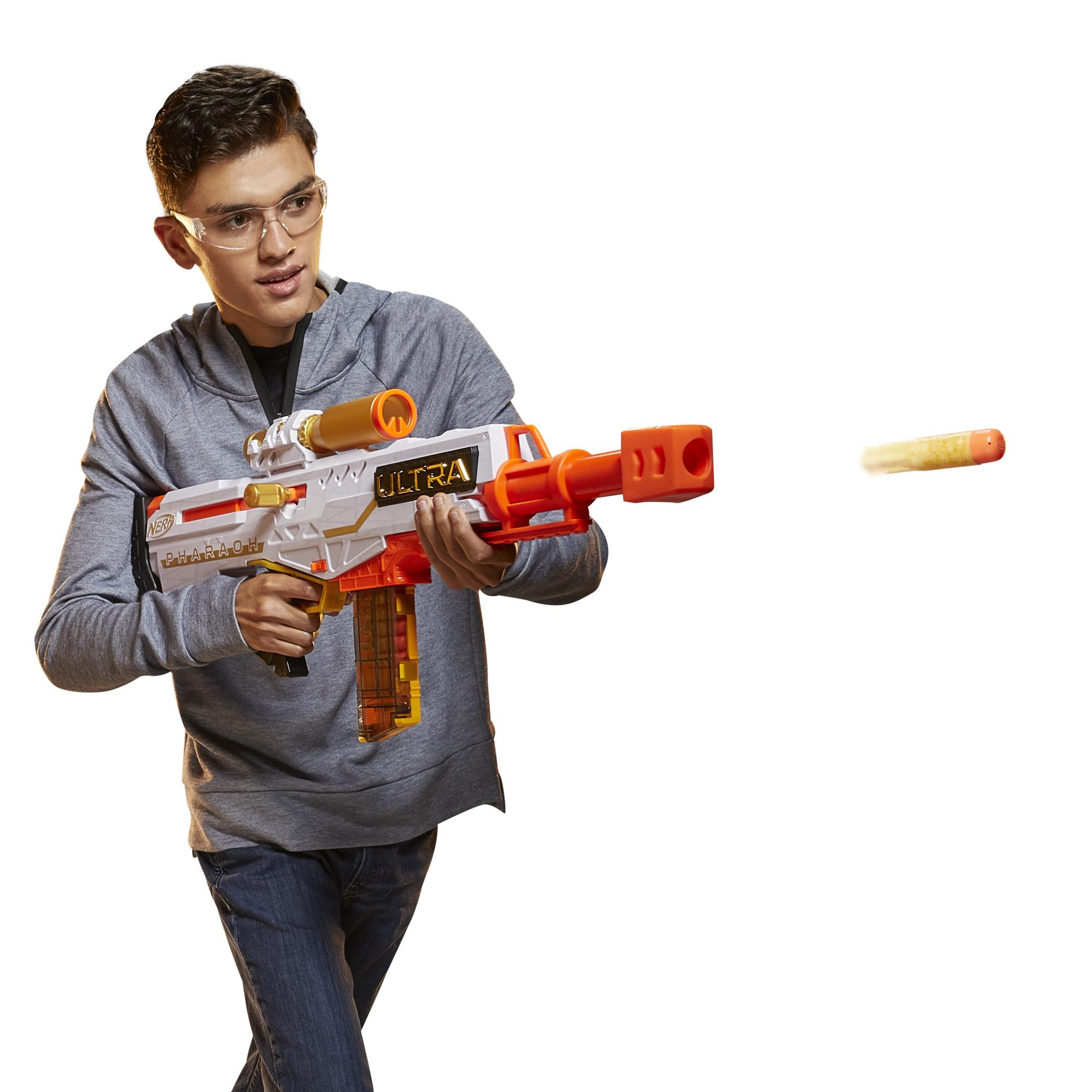 Nerf Ultra Pharaoh Blaster -- Gold Accents, 10-Dart Clip, 10 Nerf Ultra Darts, Compatible Only with Nerf Ultra Darts