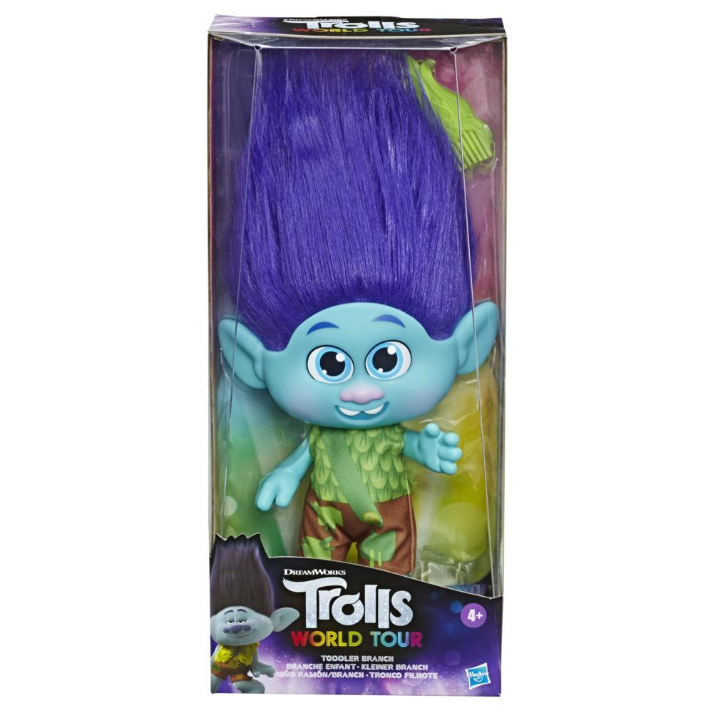 DreamWorks Trolls World Tour Toddler Branch Doll with Removable Outfit and Comb, Toy for Girls 4 Years and Up
