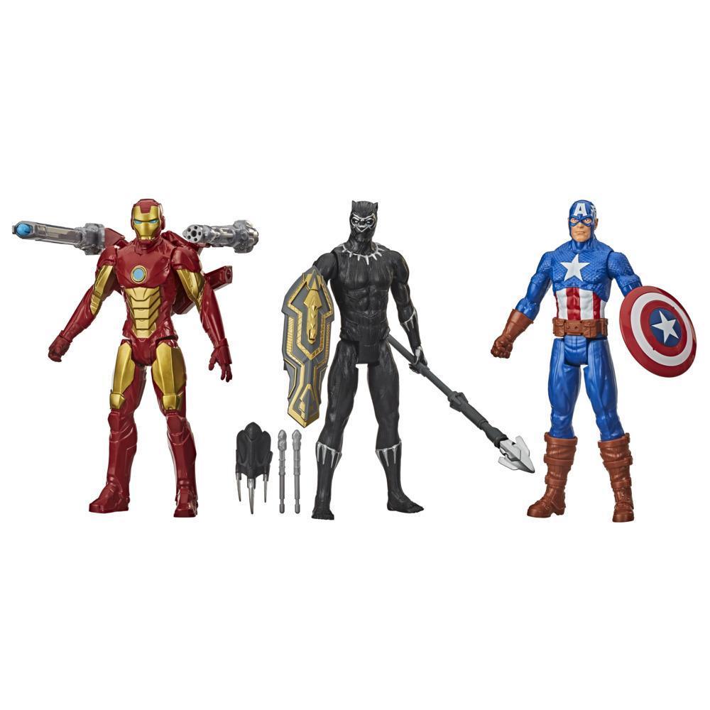 Marvel Titan Hero Series Blast Gear Avengers 3-Figure Pack with Classic Marvel Characters