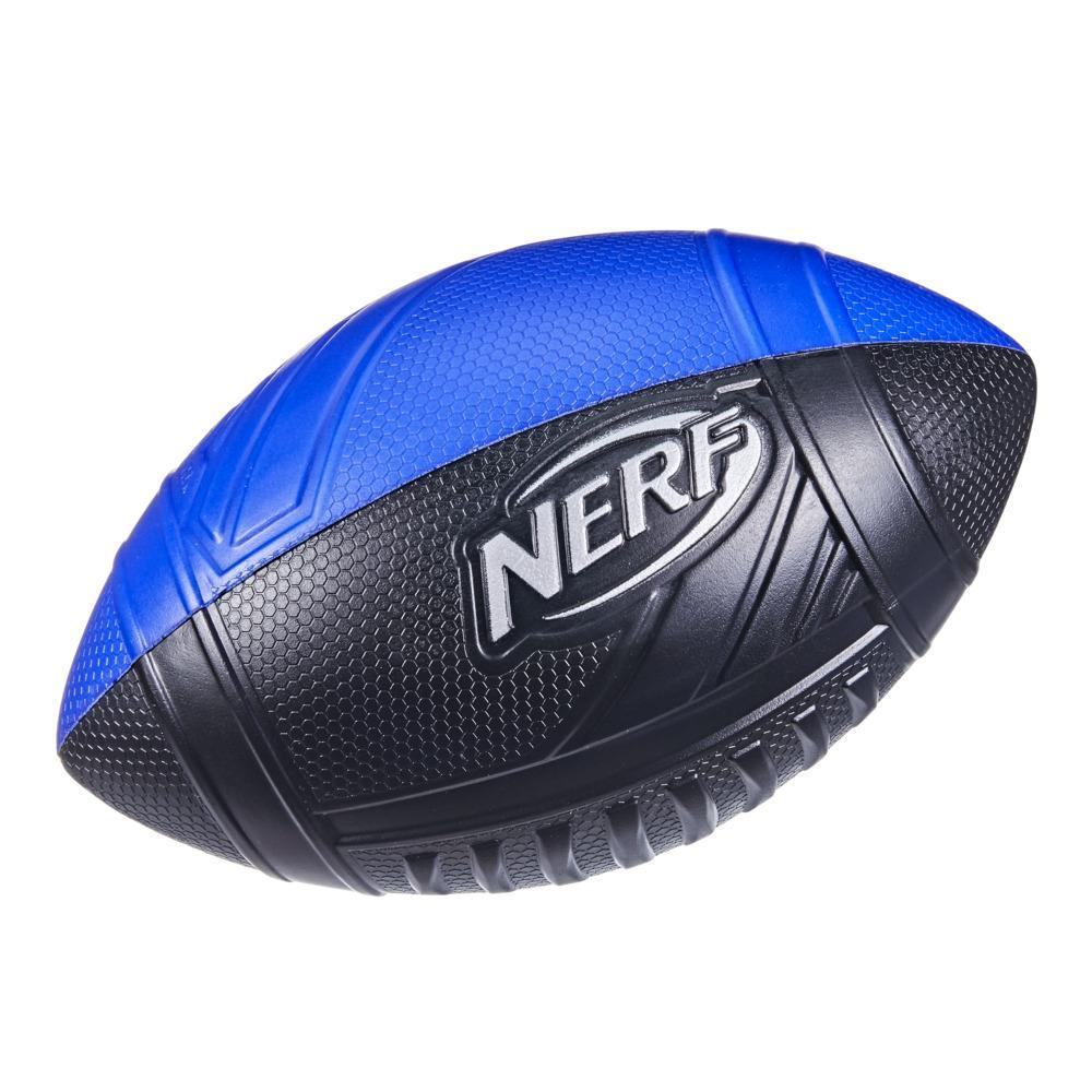 Nerf Pro Grip Classic Foam Football -- Easy to Catch and Throw -- Indoor Outdoor Play -- Blue