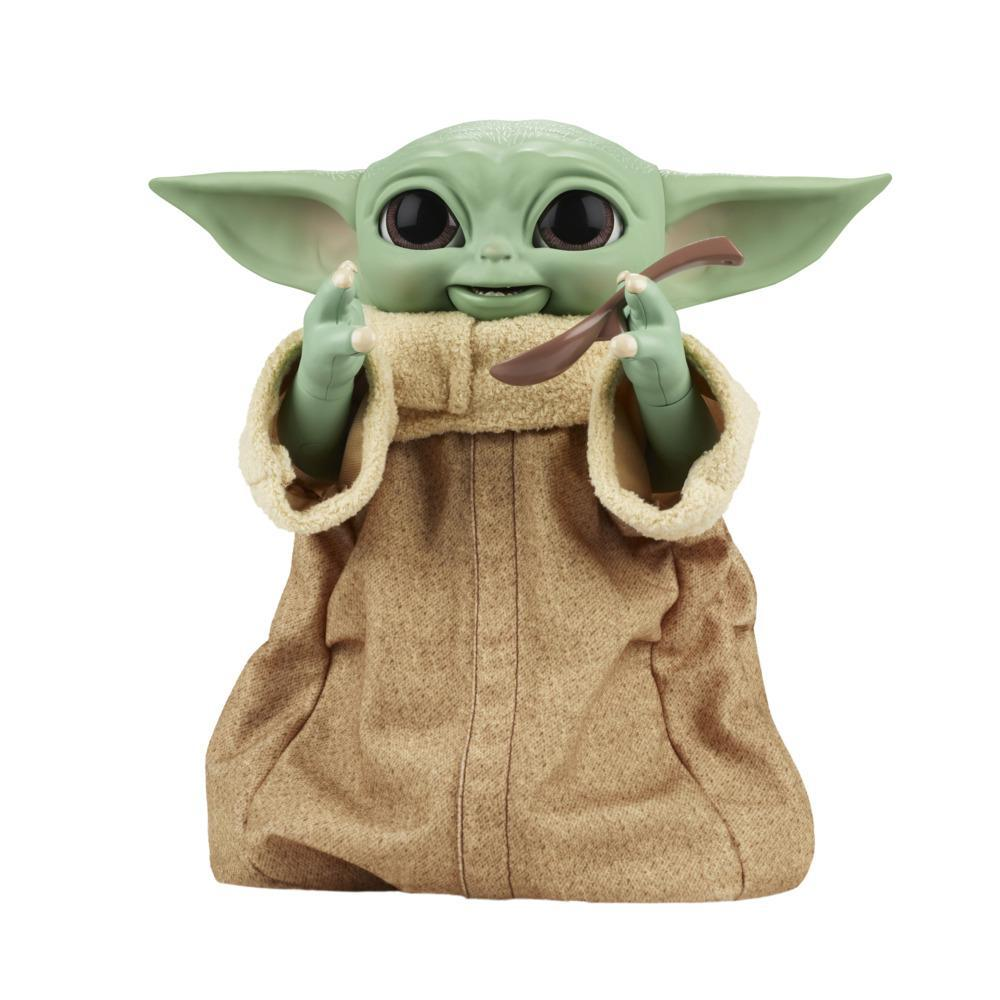 Star Wars Galactic Snackin' Grogu 9.25-Inch-Tall Animatronic Toy, Over 40 Sound and Motion Combinations, Ages 4 and Up