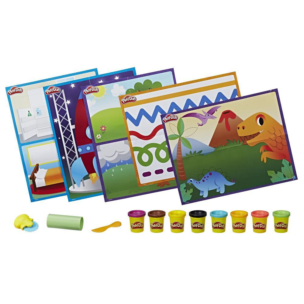 Play-Doh Shape and Learn Activity Mats and More