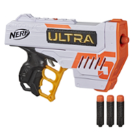 Nerf Ultra Five Blaster -- 4-Dart Internal Clip, 4 Nerf Ultra Darts, Dart Storage, Compatible Only with Nerf Ultra Darts