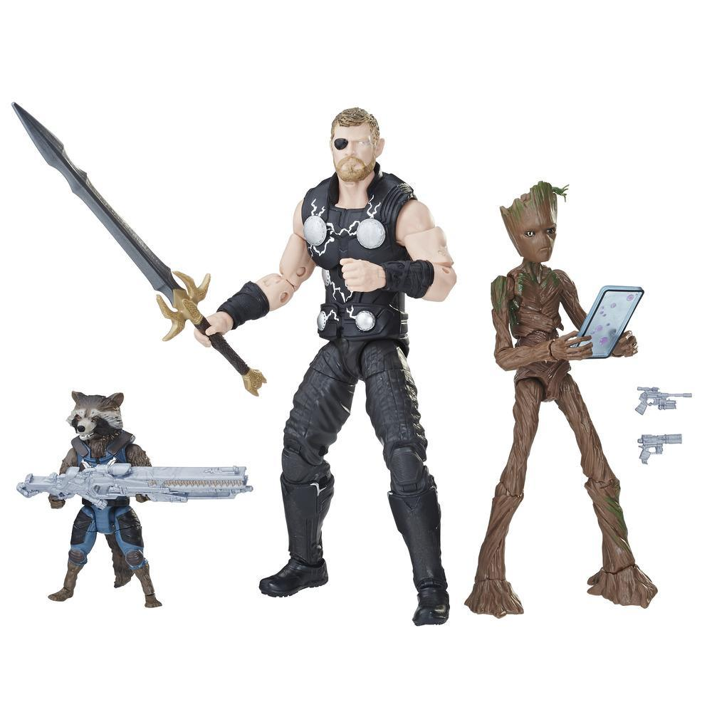 Marvel Legends Thor, Rocket Raccoon and Groot 3-Pack - 6-Inch Scale