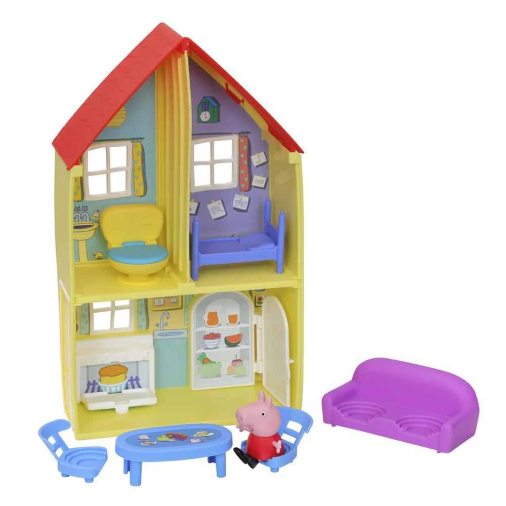 Peppa Pig Peppa's Adventures Peppa's Family House Playset Preschool Toy, includes Peppa Pig Figure and 6 Accessories