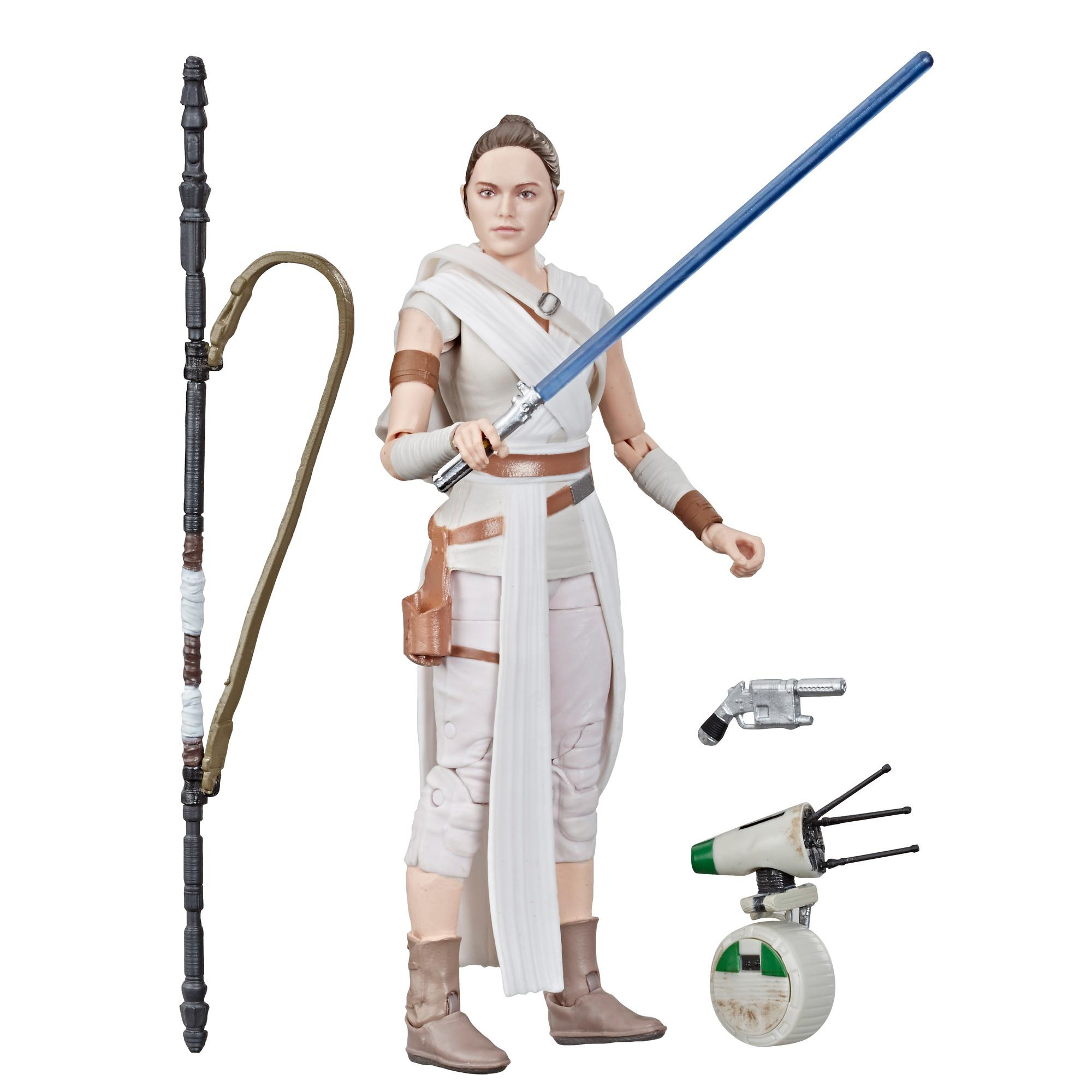 Star Wars The Black Series Rey and D-O Toys 6-inch Scale Collectible Action Figures, Toys for Kids Ages 4 and Up