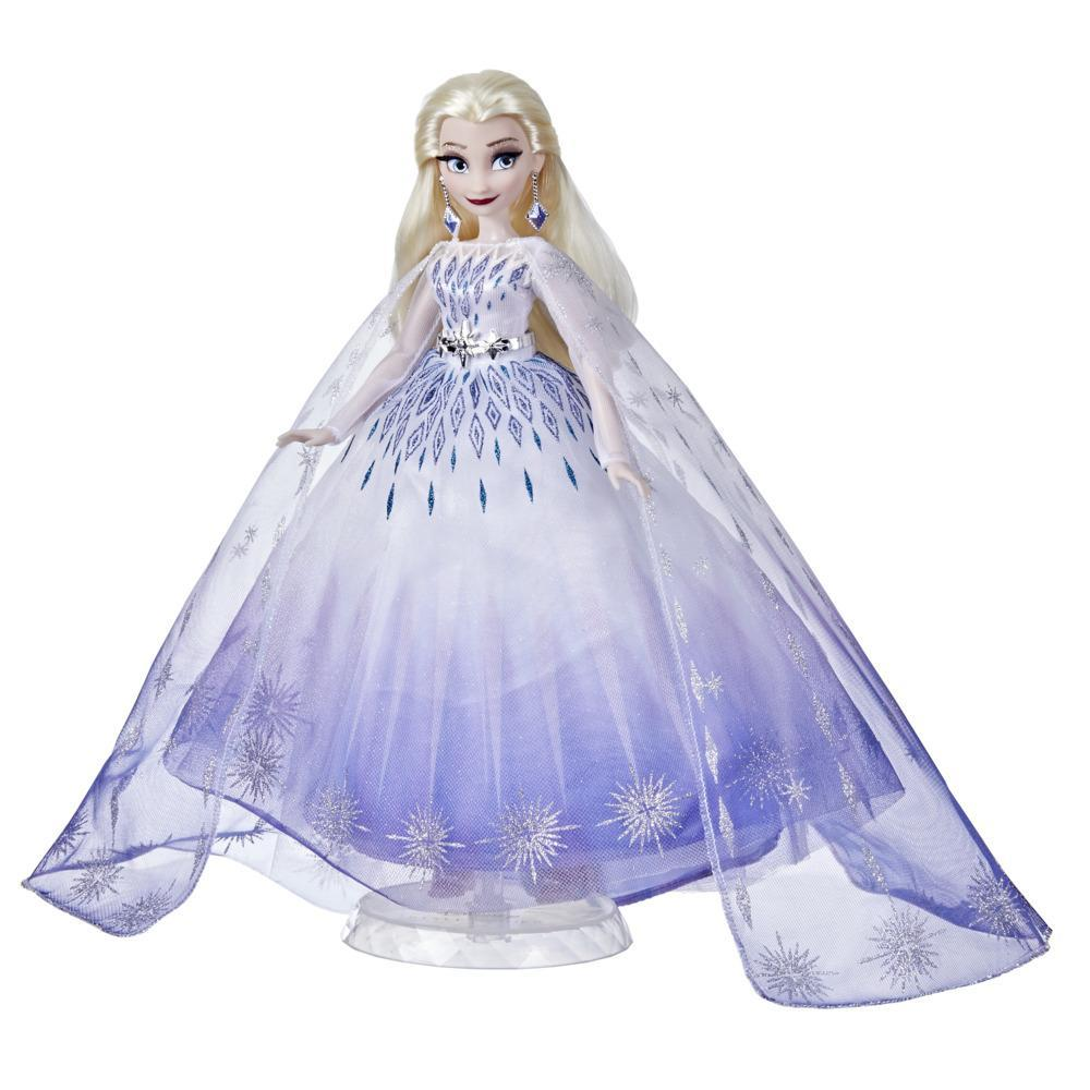 Disney Princess Style Series Holiday Elsa Doll, Fashion Doll Accessories, Collector Toy for Kids 6 and Up