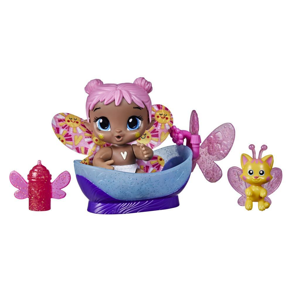 Baby Alive GloPixies Minis Doll, Bubble Sunny, Glow-In-The-Dark 3.75-Inch Pixie Toy with Surprise Friend, Kids 3 and Up