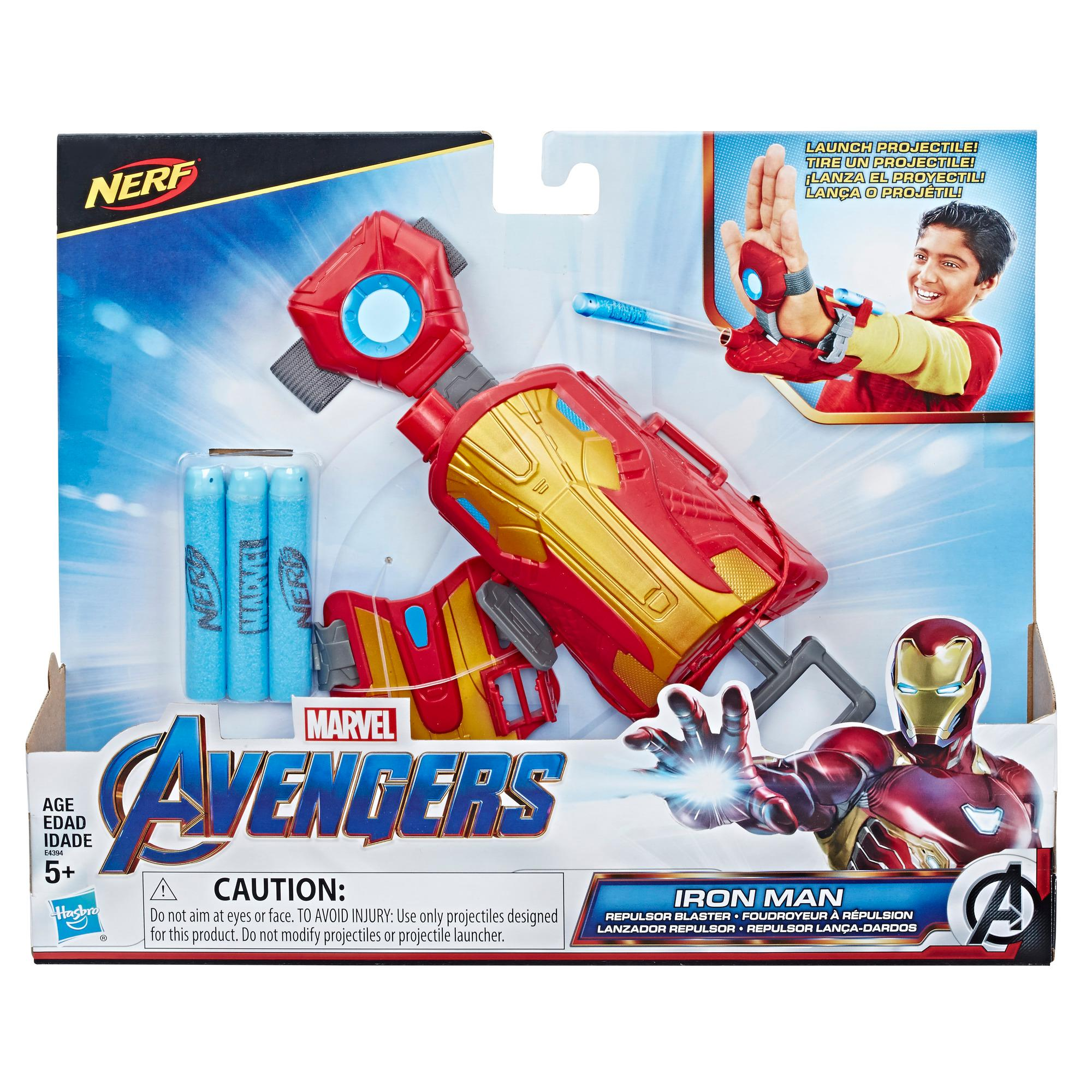 Marvel Avengers Iron Man Blast Repulsor Gauntlet with Nerf Darts for Costume and Role Play