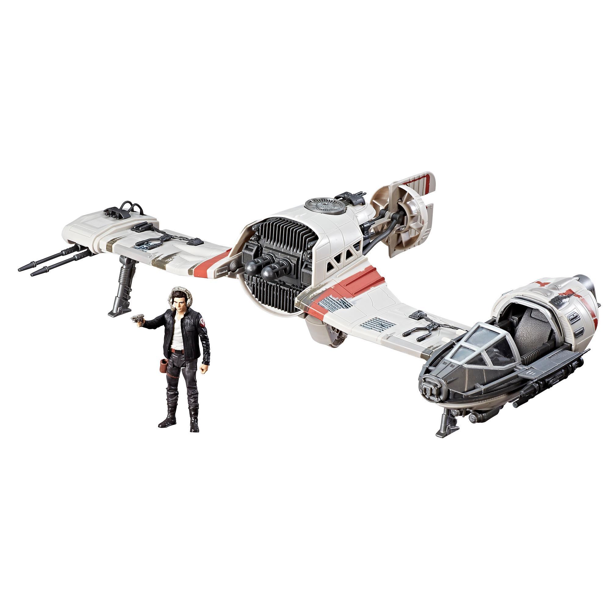 Star Wars Force Resistance Ski Speeder and Captain Poe Dameron Figure