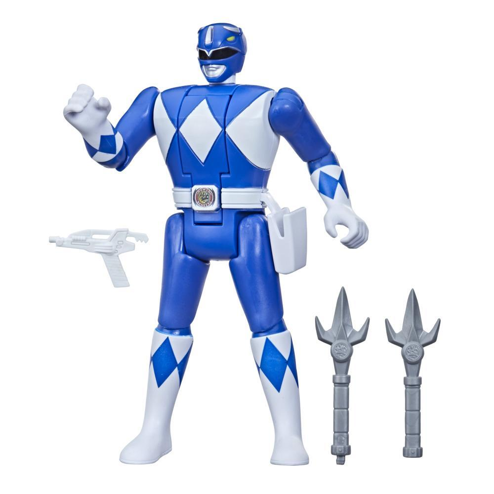 Power Rangers Retro-Morphin Blue Ranger Billy Fliphead Action Figure Inspired by Mighty Morphin Toy Kids Ages 4 and Up