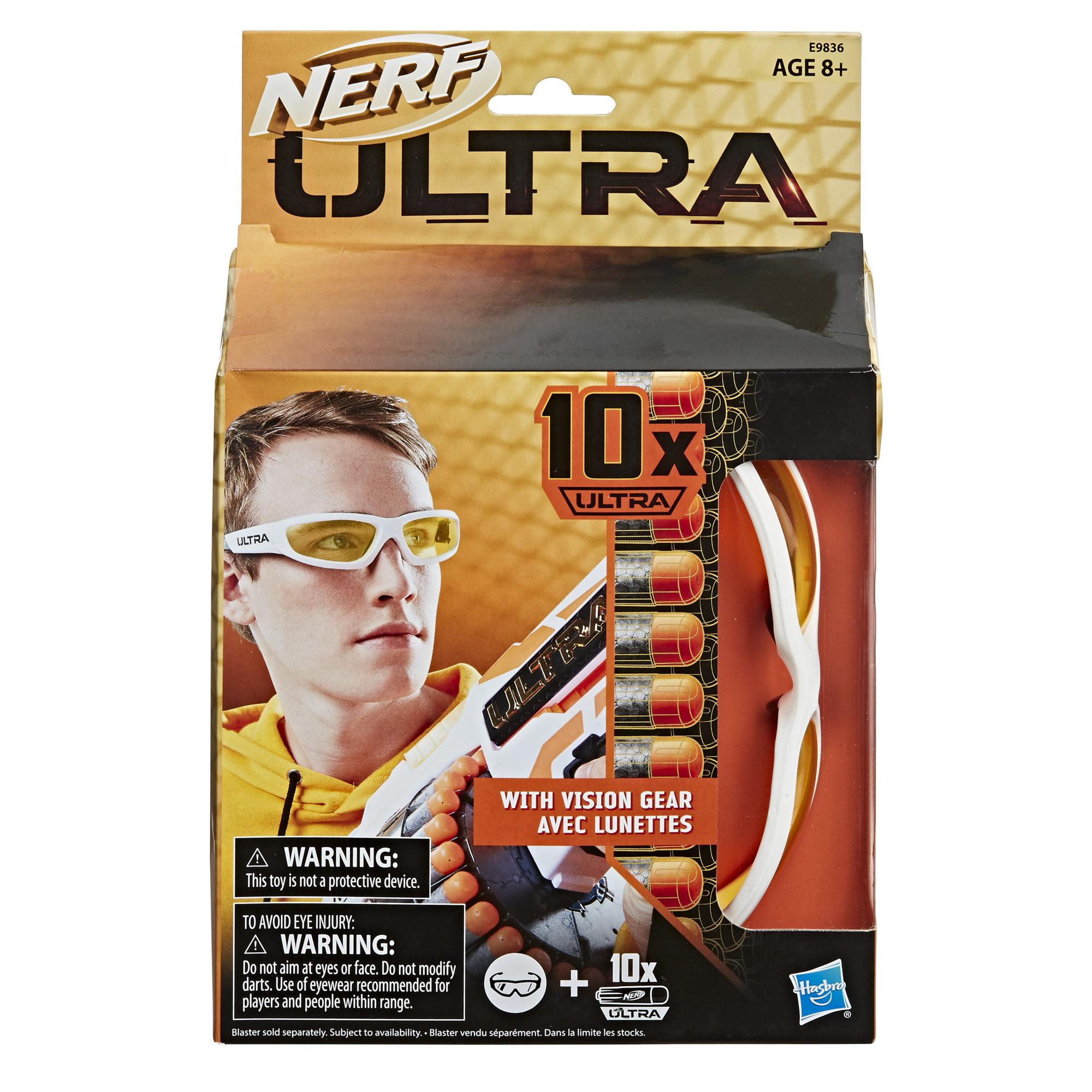 Nerf Ultra Vision Gear and 10 Nerf Ultra Darts -- Darts Compatible Only with Nerf Ultra Blasters