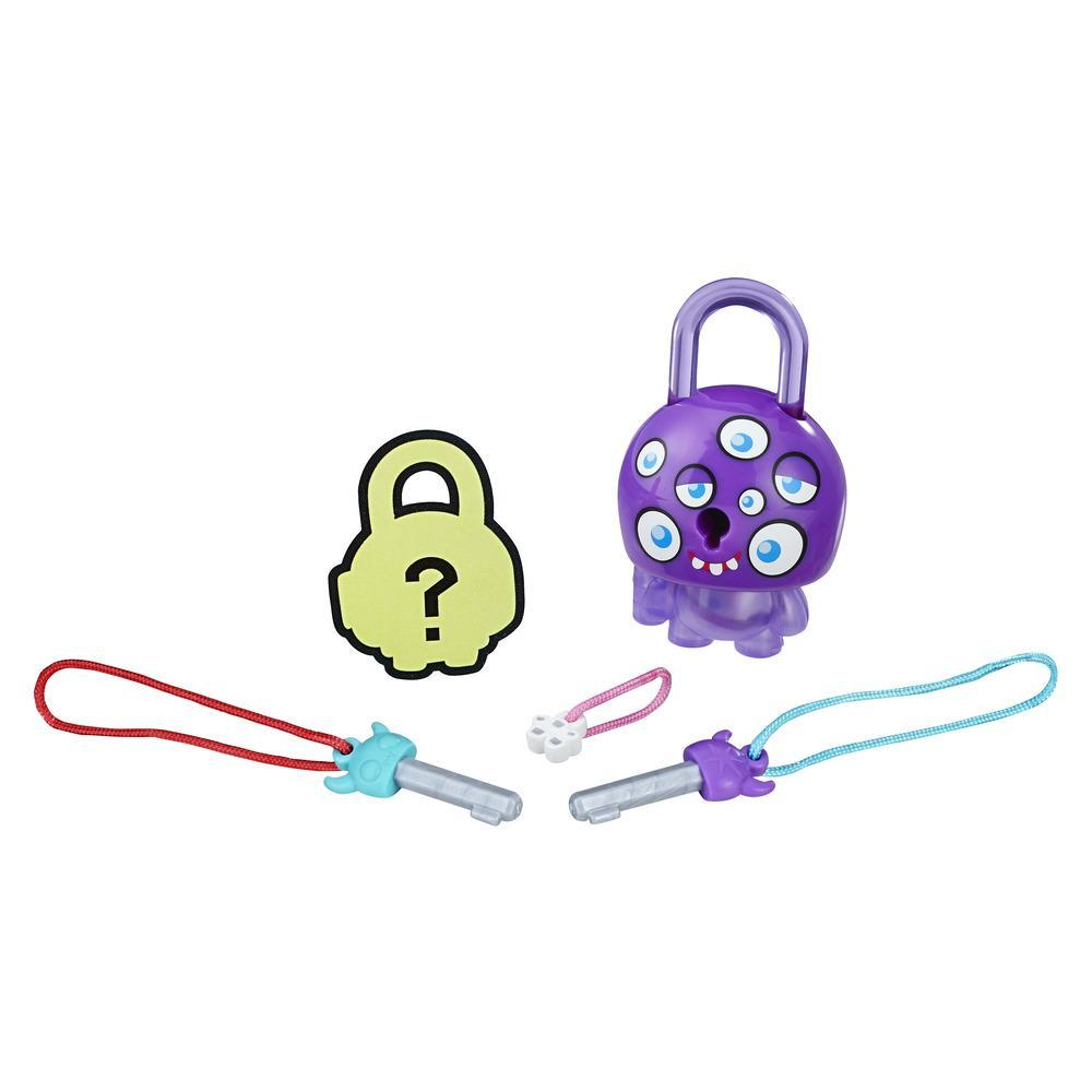 Lock Stars Basic Assortment Purple Monster with Eyes -- Series 1