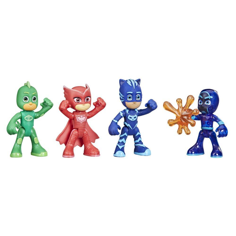 PJ Masks Night Time Mission Glow-in-the-Dark Action Figure Set, Preschool Toy for Kids Ages 3 and Up