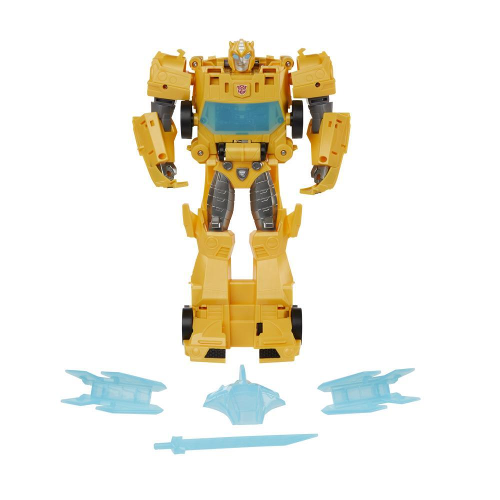 Transformers Toys Bumblebee Cyberverse Adventures Dinobots Unite Roll N' Change Bumblebee Action Figure, 6 and Up, 10-inch