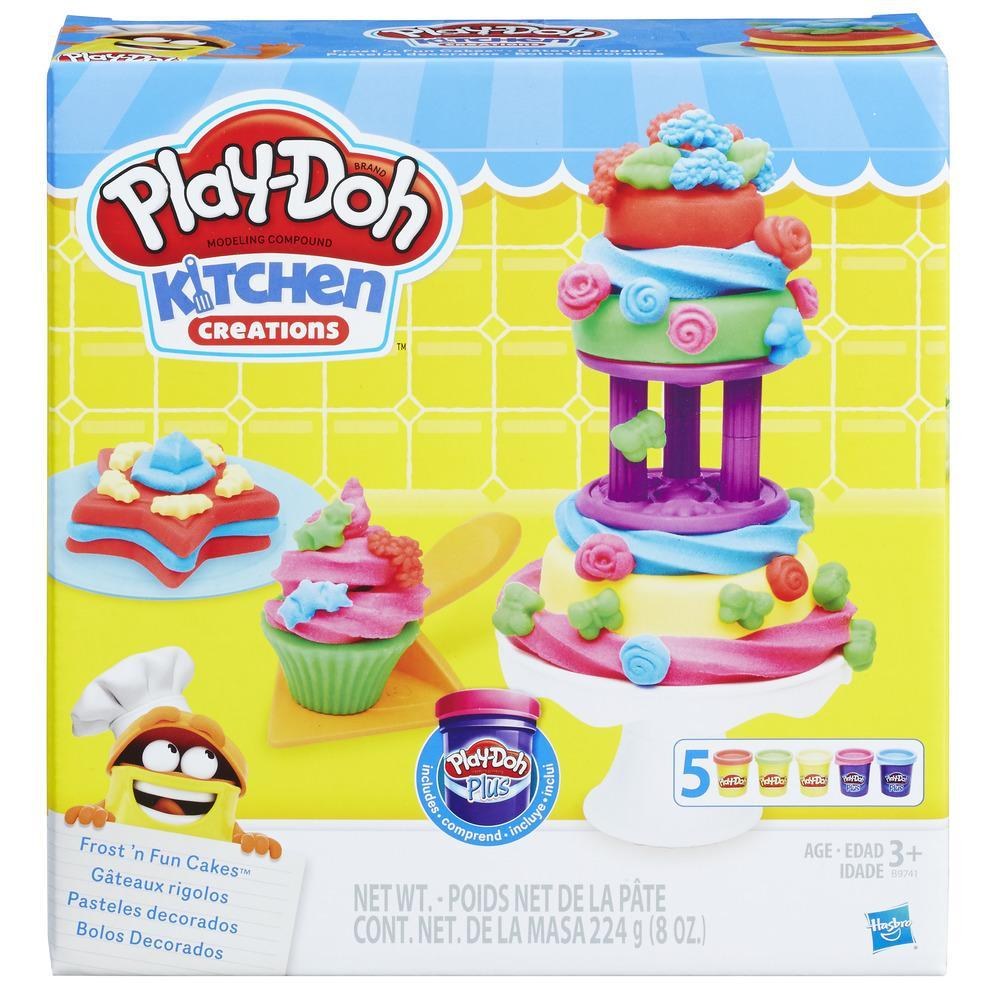 play-doh kitchen creations frost 'n fun cakes   play-doh
