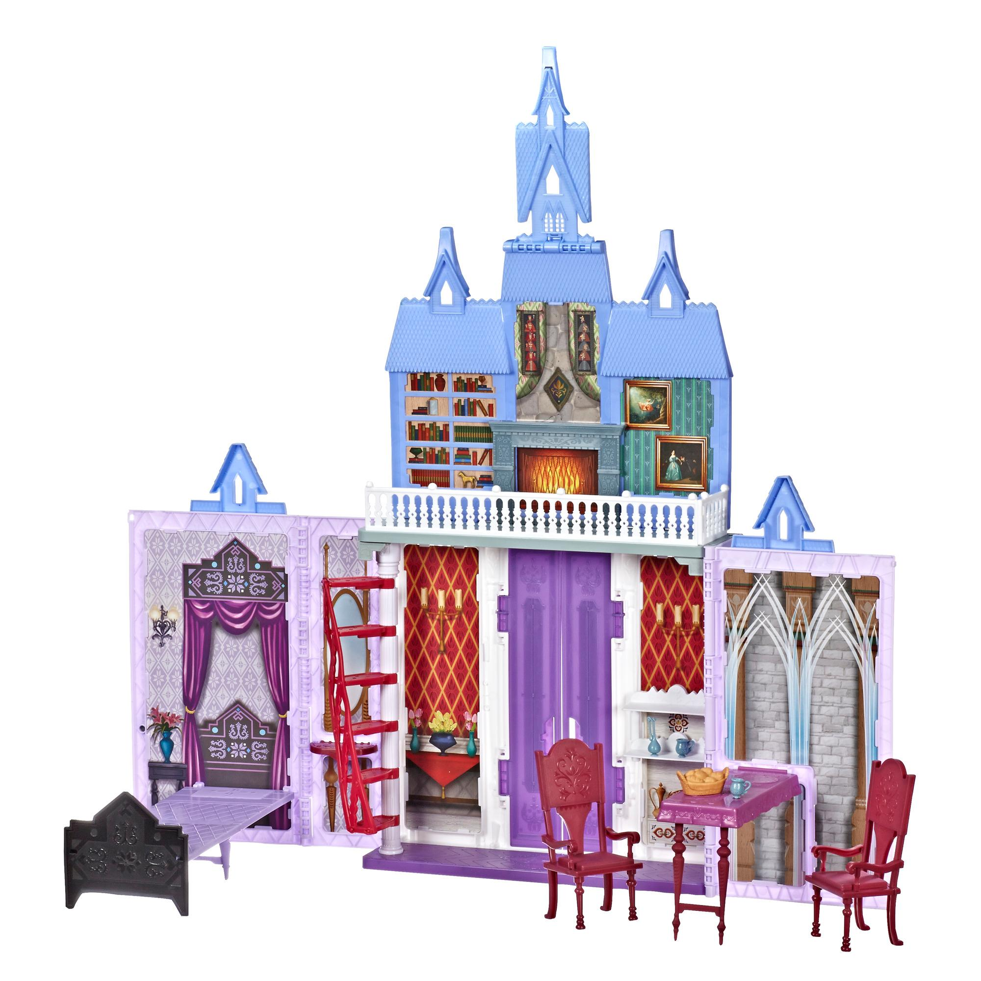 Disney Frozen Fold and Go Arendelle Castle Playset Inspired by Disney's Frozen 2 Movie