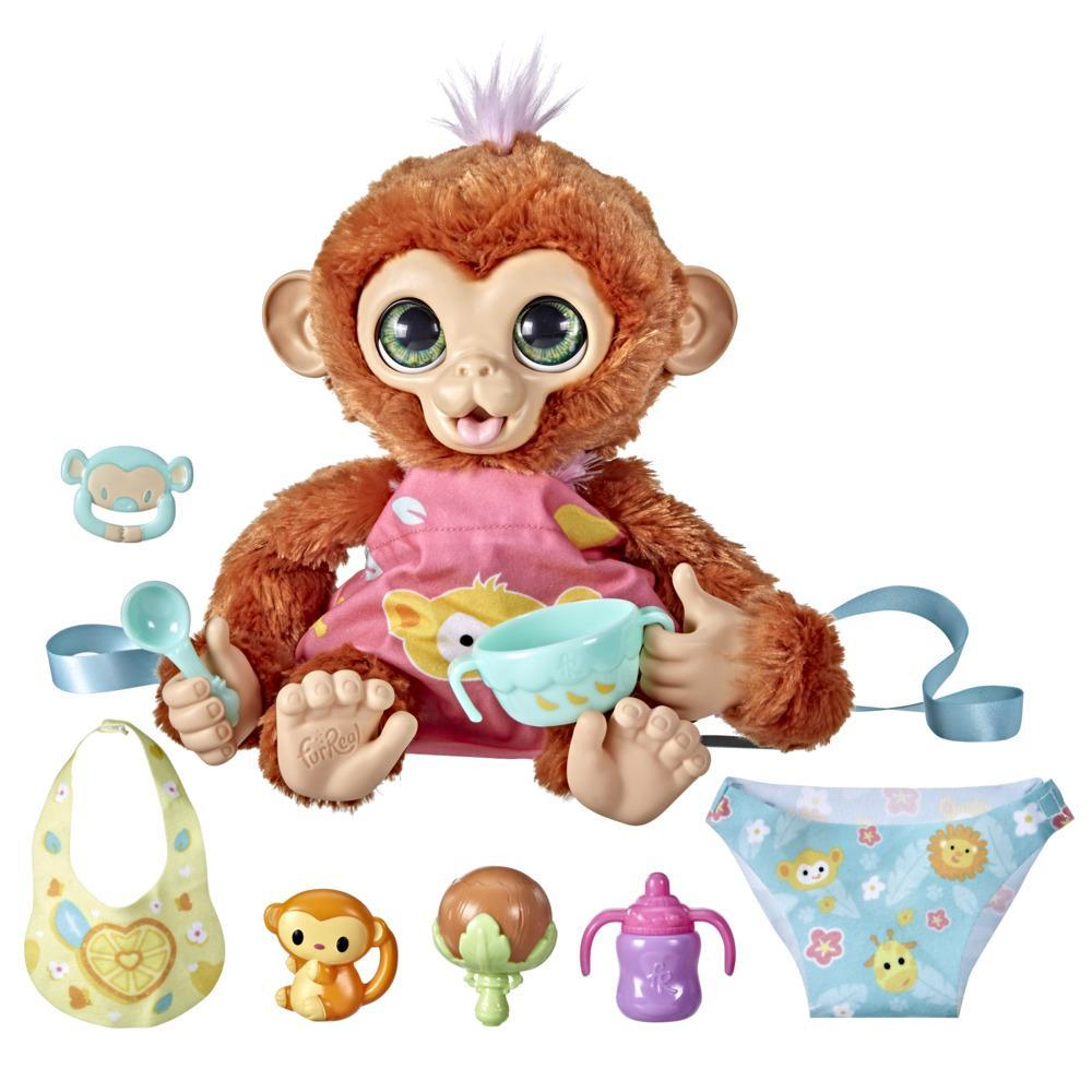 furReal Piper, My Baby Monkey Interactive Animatronic Toy, 50+ Sounds and Reactions, for Kids Ages 4 and up