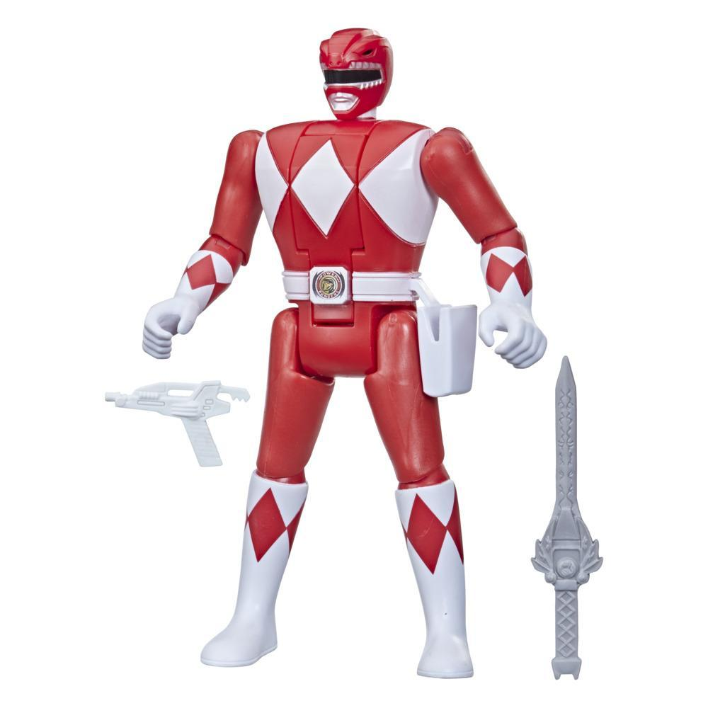 Power Rangers Retro-Morphin Red Ranger Jason Fliphead Action Figure Inspired by Mighty Morphin Toy Kids Ages 4 and Up