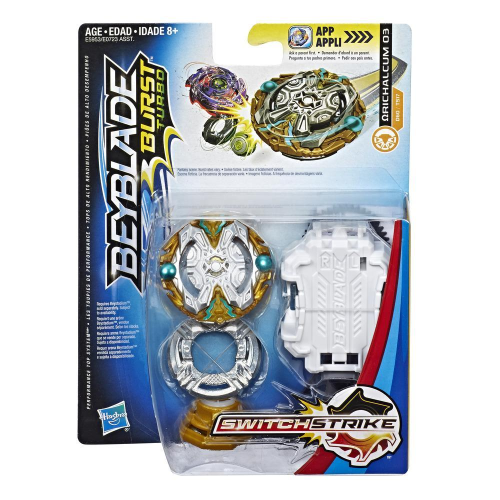 Beyblade Burst Turbo SwitchStrike Orichalcum O3 Starter Pack – Battling Top and Right/Left-Spin Launcher, Age 8+
