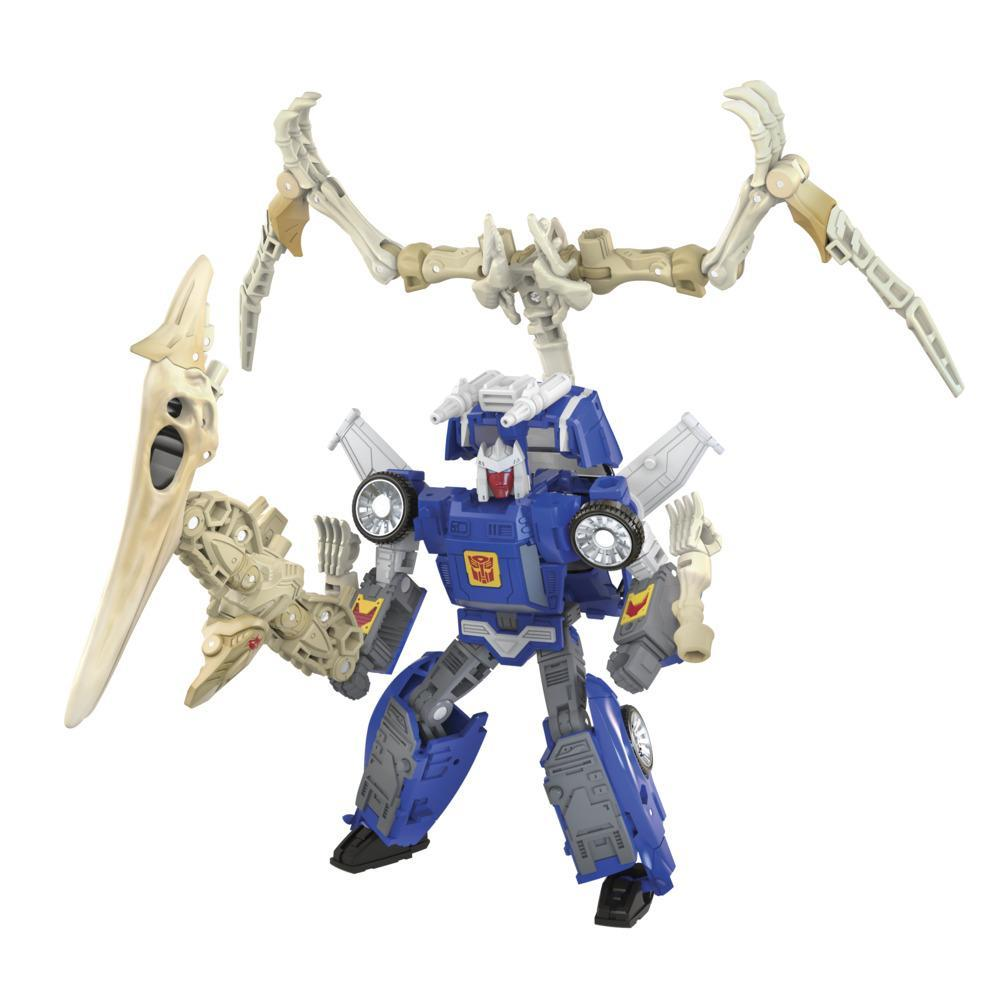 Transformers Toys Generations War for Cybertron: Kingdom Deluxe WFC-K25 Wingfinger Action Figure - 8 and Up, 5.5-inch