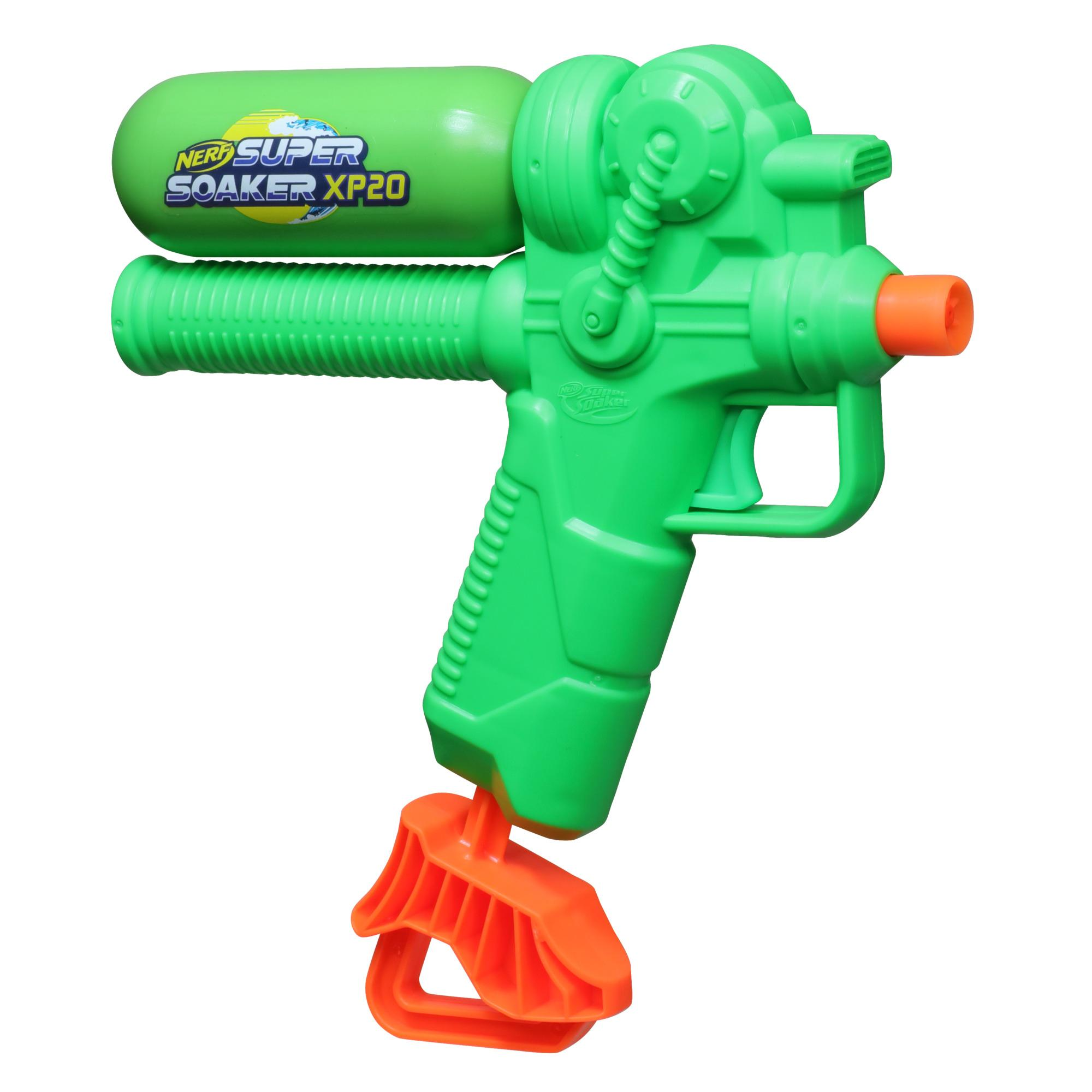 Nerf Super Soaker XP20-AP Water Blaster, Tank Made With Recycled Plastic, Air-Pressurized Continuous Water Blast