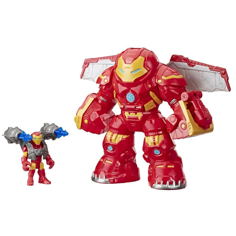 Playskool Heroes Marvel Super Hero Adventures Iron Man and Hulkbuster Action Figures, Toys for Kids Ages 3 and Up