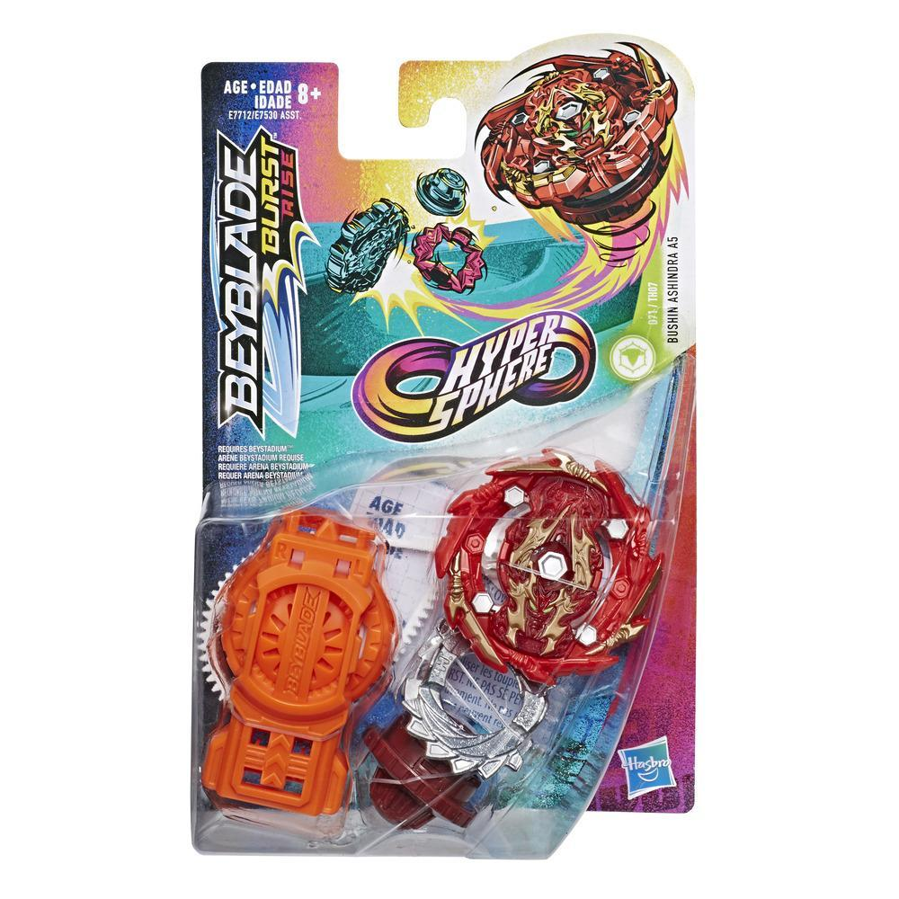 Beyblade Burst Rise Hypersphere Bushin Ashindra A5 Starter Pack -- Battling Top Toy and Right/Left-Spin Launcher